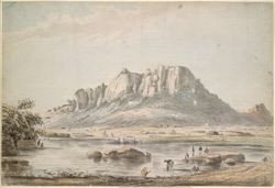 View of Outradrug (Mysore).  Between 1790 and 1792